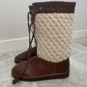 Michael Kors boots leather sheep shearling 6